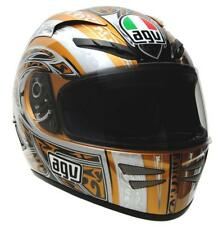 AGV Stealth Razor Full Face Street Motorcycle Helmet Gold Grey Gray 2XLarge XXL