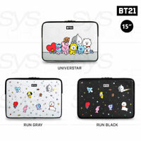 """BTS BT21 Official Authentic Goods 15"""" PU Laptop Sleeve 3TYPE  + Tracking Number"""