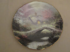 Brookside Hideaway collector plate Thomas Kinkade Romantic Cottage