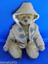 "Classic Plush Teddy Bear Bay Bears Original Mohair Teddies 14"" Tall with Jacket"