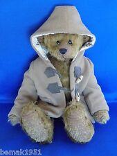 """Classic Plush Teddy Bear Bay Bears Original Mohair Teddies 14"""" Tall with Jacket"""