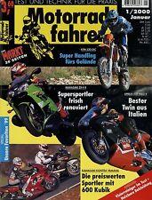Motorradfahrer 2000 1/00 Aprilia RSV Mille R Egli-Enfield ZX-9R KTM EXC FZS 600
