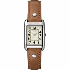 Timex T2N905, Women's Weekender Brown Leather Watch,  T2N9059J