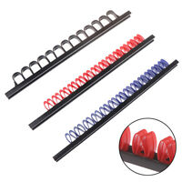 1pc Industrial ABS Tool Rail Rack Holder Wrench Screwdriver Organizer Wall Mount