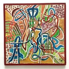Antonia KOMISAREK (1925) Art Brut / Art Naïf / 2 tableaux Abstrait / portrait