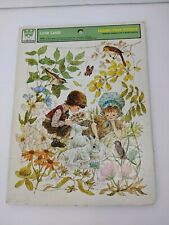 Whitman Frame-Tray Puzzle Little Lamb 1975 Giordano Design Children in Woods