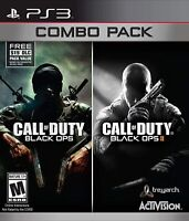 Call of Duty Black Ops 1 & 2 Combo Pack Playstation 3 PS3 War Shooter - Used