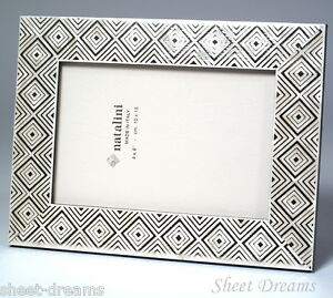 Natalini Ivory Gold Hand Made Italian Wood Marquetry Photo Frame New