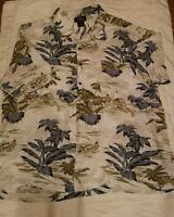 Route 66 Hawaiian Shirt Island Palm Trees Mens 2XL Original Clothing Co Rayon