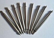 10 x Edelstahl Qualität Federstege 24 mm Ersatz Uhr Federstifte Spring Bar 1.8 Ø