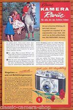 Photo porst prospectus petite caméra revue rolleiflex/retinette IIB, etc. (x3024