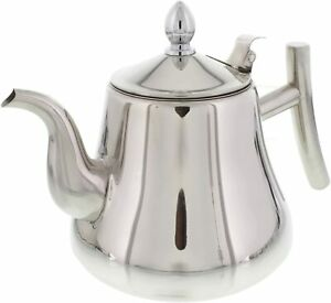 Tea Kettle 1L, 1.5L, 2L Liter Stove-top Strainer Heavy Gauge Stainless Steel Pot