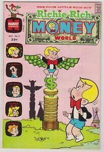 Richie Rich Money World #5 - Harvey File Copy Comic! 1973 VFNM