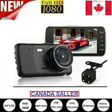 """4"""".HD 1080P Dual Lens Car DVR Video Recorder Dash Cam G-Sensor +Rear Camera CAN"""