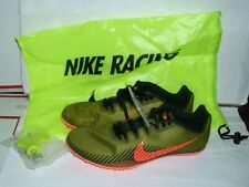 Nike Zoom Men Racing Multi Use Cleats & Spikes Green & Orange Shoes Size 8 New