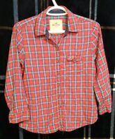 Women's Hollister Red Flannel Shirt Plaid Size S FREE SHIPPING!!!