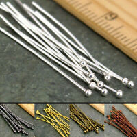Gold Plated Jewelry Head 16/20/30/40/50mm Finding Silver Ball Pins 100PCS