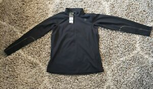 UNDER ARMOUR Black Size XL Rush Fitted 1/2 Zip Women's Long Sleeve 1342892-001