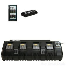 Makita DC18SF Lithium Ion Battery Charger, 18 Volt Rapid Optimum 4 Port Charger