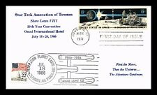 SPACE ACHIEVEMENT 10TH ANNIVERSARY FDC PAIR STAR TREK OF TOWSON EVENT US COVER