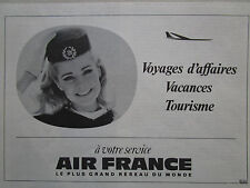 10/1968 PUB AIR FRANCE AIRLINE HOTESSE DE L'AIR STEWARDESS ORIGINAL FRENCH AD