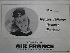 10/1968 PUB AIR FRANCE AIRLINE HOTESSE DE L'AIR STEWARDESS ORIGINAL FRENCH AD
