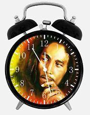 "Bob Marley Alarm Desk Clock 3.75"" Home or Office Decor E165 Nice For Gift"