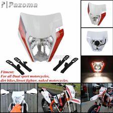 Motocross Dirt Bike Enduro Headlight Lamp w/ Sticker For Honda Yamaha KTM SXF SX