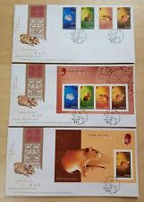 Hong Kong 2008 Zodiac Year of the Rat, 4v Stamps MS & imperf MS, set of 3 FDC