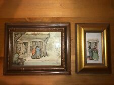 Anton Pieck  LOT 2-  3D Shadow Box ,Street Scenes - Framed- Vintage Pieces- RARE