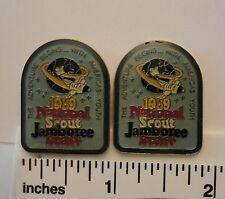 TWO - 1989 BSA National Scout Jamboree STAFF Pins -