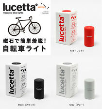 Lucetta Magnetic Bike Lights, Steady or Flashing Safety Lights grey/black/red