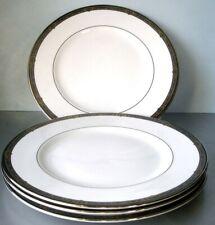 "Lenox Vintage Jewel set of 4 Dinner Plates Platinum Banded 10.75"" New"