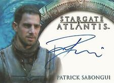 "Stargate Atlantis Heroes - Patrick Sabongui ""Kanaan"" Auto / Autograph Card"