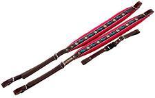 Superhochwertige Zupan Akkordeonriemen dicke Polsterung 72/96 Bass Leder rot