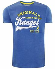 Mens Kangol Branded Cody Crew Neck Short Sleeve T-shirt Casual Top L Marine Marl