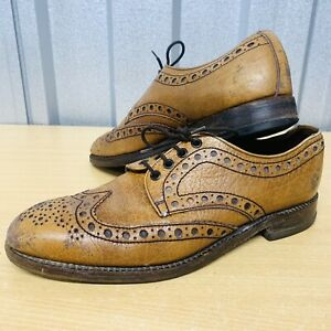 Men's LOAKE Brown Leather Lowestoft Brogues UK Size 10 Made in England