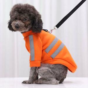 New Pet Clothes Warm Fleece Reflective Dog Sweater Coat Puppy Jacket Cat Sweater