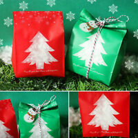50pcs Christmas Candy Bag Gift Wrap Bags Cookie Pouch Party Xmas Decor Snowflake