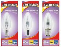 10 Pack Eveready Eco Halogen Clear Candle Light Bulb Energy Saver E14 B15 B22