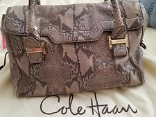 Cole Haan Chrystie Street Claire Satchel purse Stone Snake