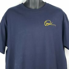 Vintage 90s Oprah Winfrey Show Signature Embroidered T-shirt Size L Navy Blue