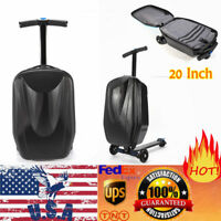 Scooter Luggage Rolling Suitcase Foldable Trolley Travel Carry onboard Bag USA