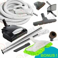 Allegro Super Deluxe Central Vacuum Electric Powerhead 30' Hose and Bonus KIT