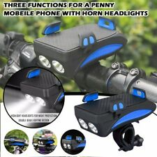 Usb Rechargeable Led Headlight 4 in 1 Waterproof Bicycle Light with Bike Horn