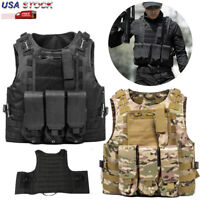 Military Tactical Vest Air soft Paintball MOLLE Plate Carrier Vest Gear Outdoor