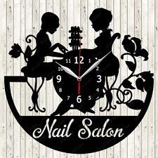 Nail Salon Vinyl Record Wall Clock Decor Handmade 2041