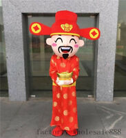 Halloween God of Wealth Mascot Costume Suits Party Game  Cosplay Dress Adult