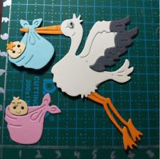 Stork Baby Metal Cutting Dies Stencil Scrapbook Embossing Album Decor Craft Card