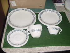 """17 Piece Set of Corelle """"Old Time Blue Onion"""" Dinnerware, Service for 4"""